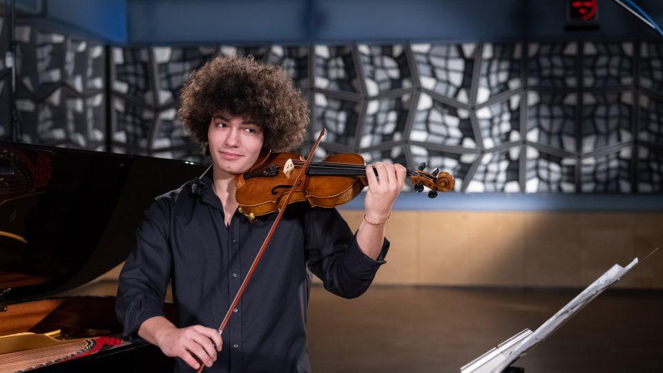 Daniel Matejča je nadaný houslista