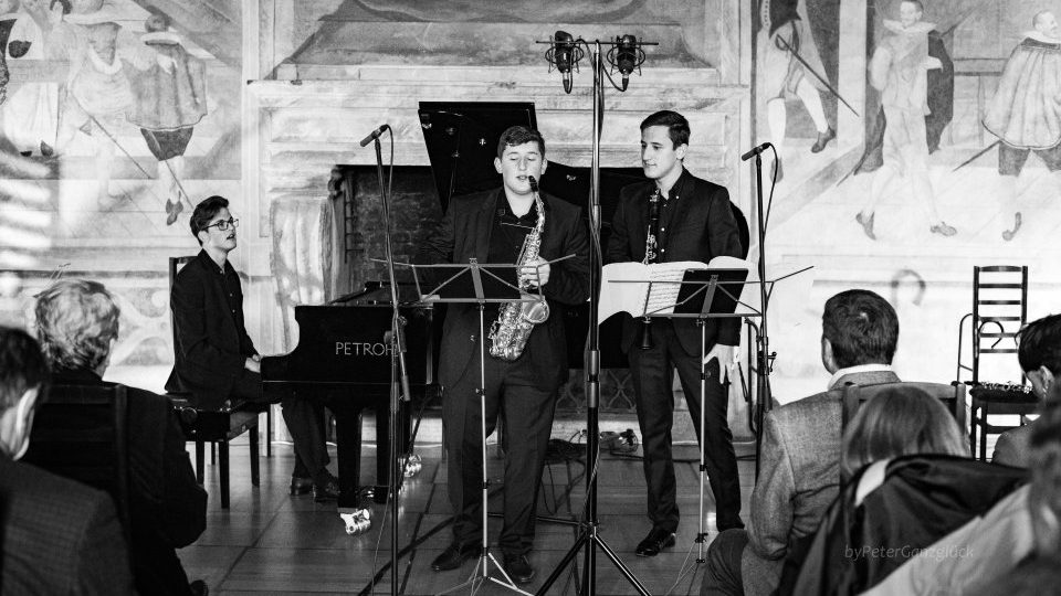 Trio INNsolitus at the concert in Bechyně