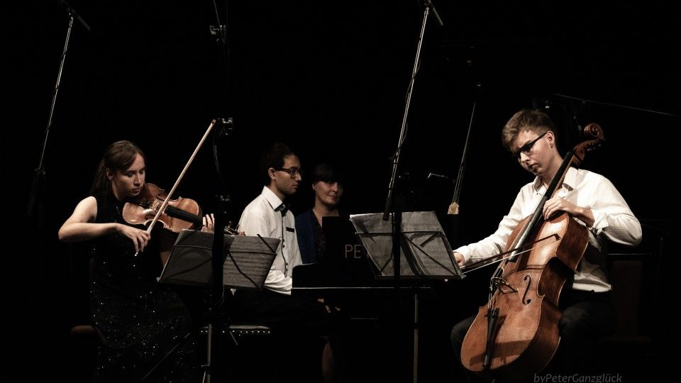 Trio Vyšehrad at the concert at the J. K. Tyl Theatre in Třeboň