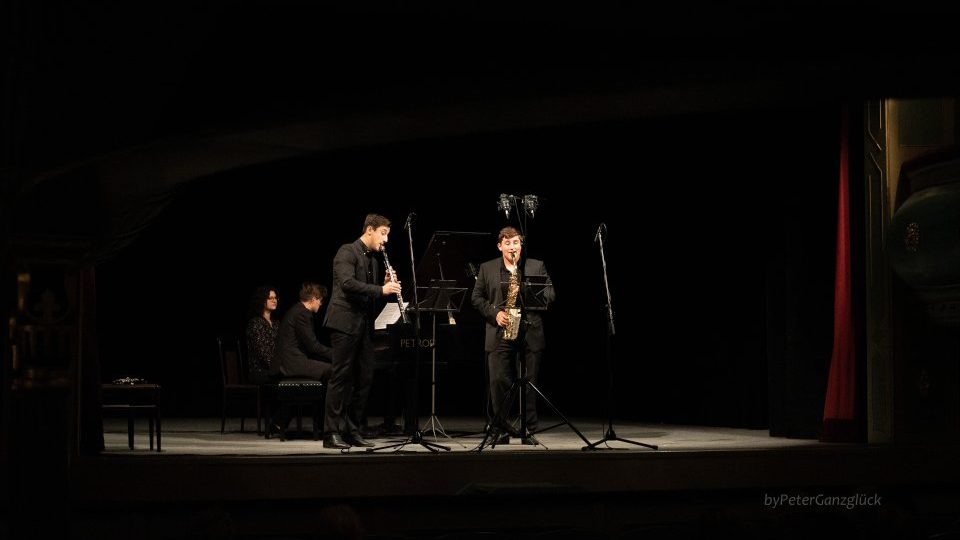 Trio INNsolitus at the concert at the J. K. Tyl Theatre in Třeboň